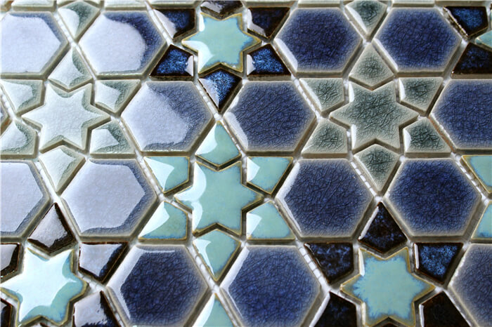 gradient blue star mosaic tile for swimming pool and interior design wall.jpg