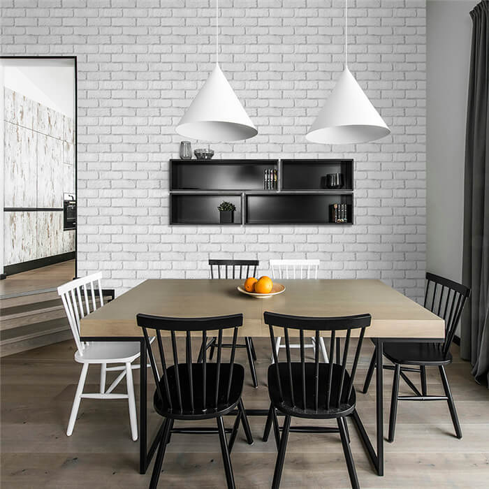 white brick veneer dinning room wall decoration.jpg