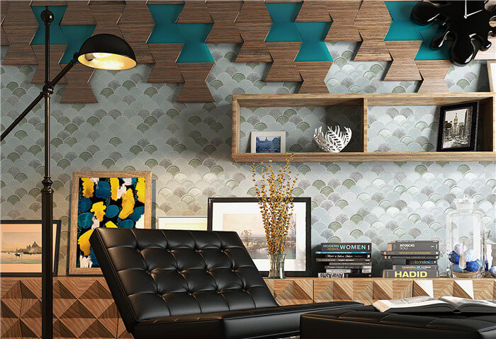 hoffice using fan shaped mosaic tile for wall decoration.jpg
