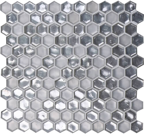 silvery mixed crystal white hexagon glass mosaic tile.jpg