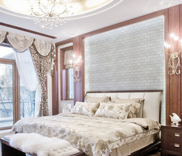using white subway brick bond tile for bedroom wall decoration.jpg
