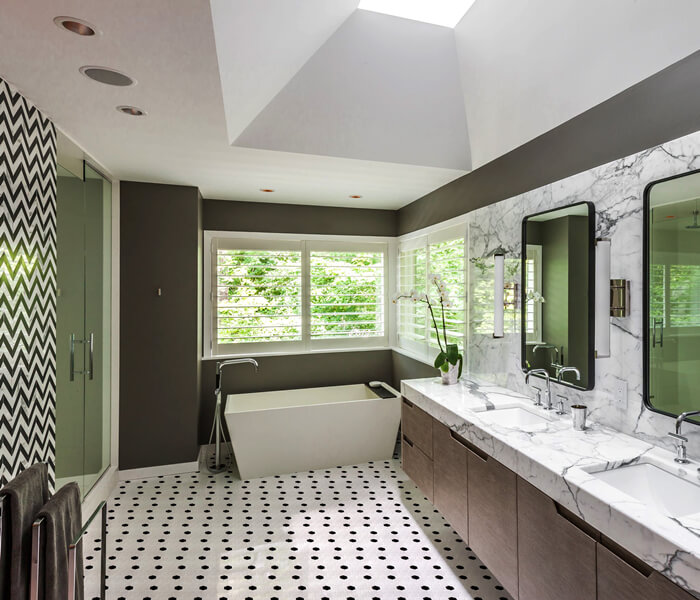 bathroom using glazed ceramic hexagon mosaic tile .jpg