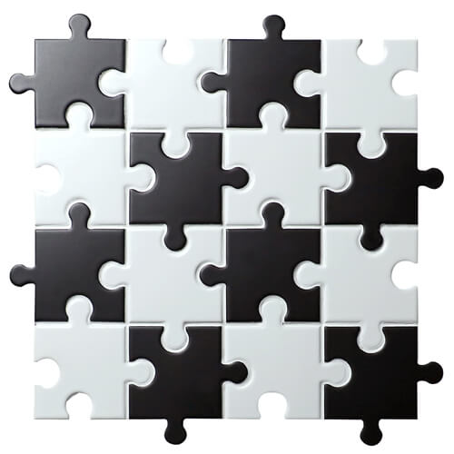 interesting black white puzzle design decorative mosaic tile.jpg
