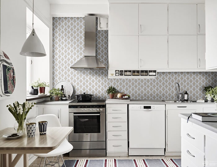 kitchen design using wintersweet pattern mosaic tile.jpg