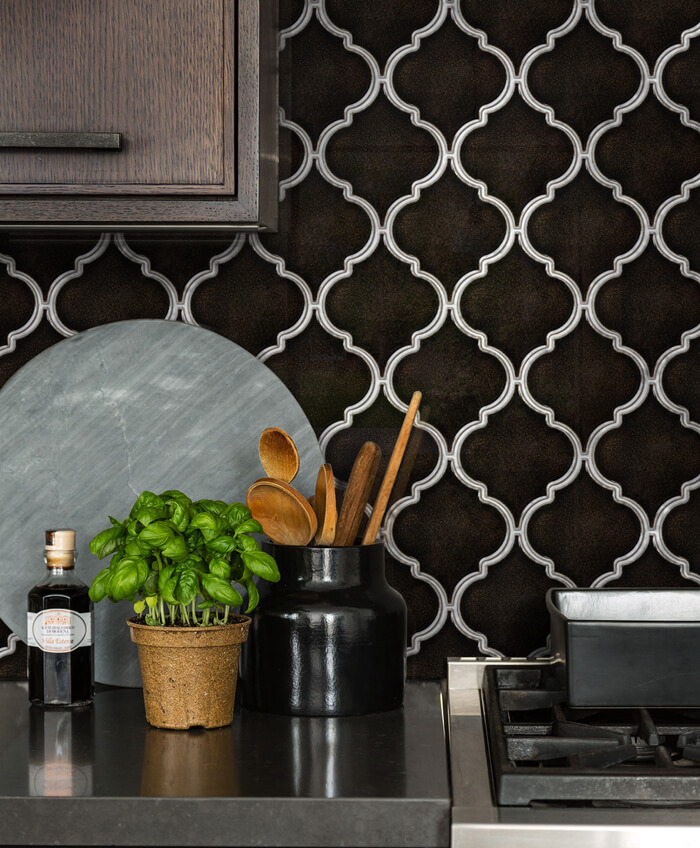 chocolate brown lantern tile backsplash.jpg