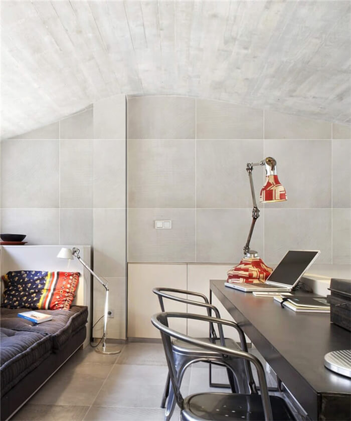 loft uses cement look porcelain tiles for wall and floor.jpg