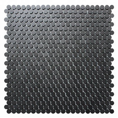 Style Collection Unglazed 12 7mm Tiny Black Penny Round Mosaic Tile Penny Round Mosaic Tile Penny Round Mosaic Round Mosaic Tiles Black Penny Round Mosaic Tile Mm Mosaic Com