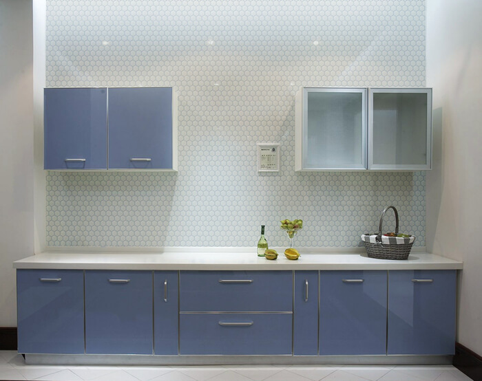 beige hexagonal mosaic tile kitchen wall.jpg
