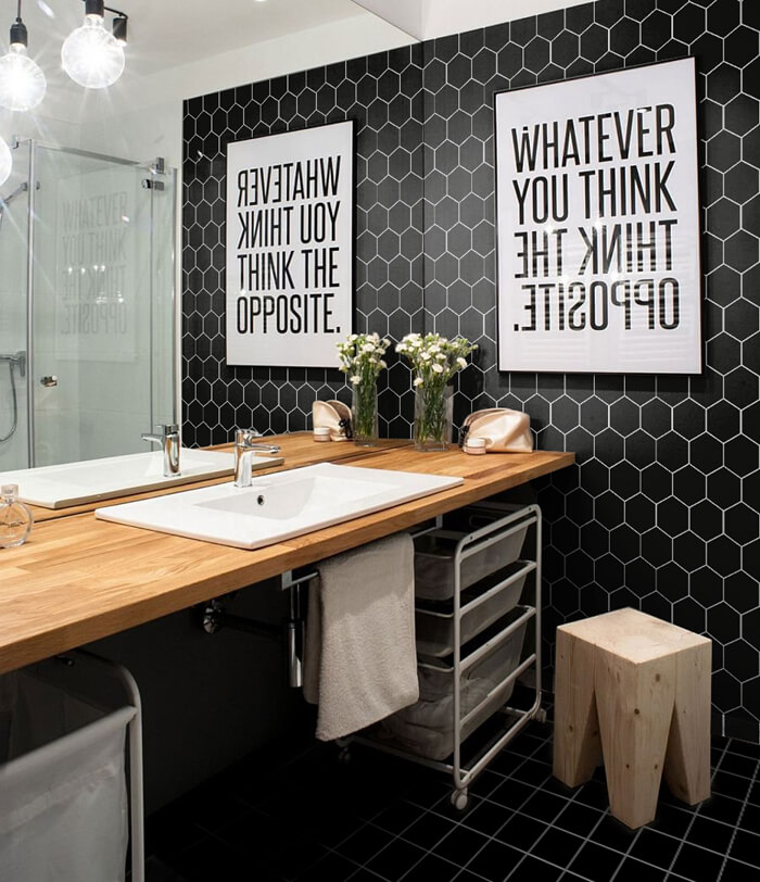 matte black hex mosaic tile for shower wall.jpg