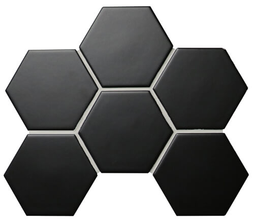 matte glazed black hexagon mosaic tile.jpg