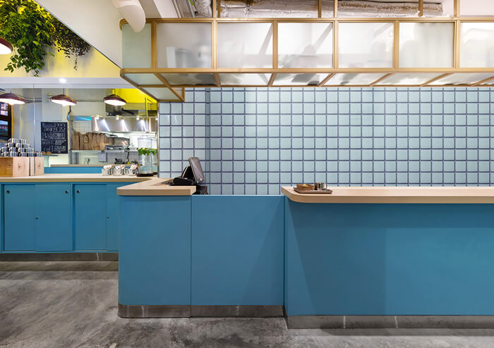 light blue mosaic backsplash tile for commercial kitchen.jpg