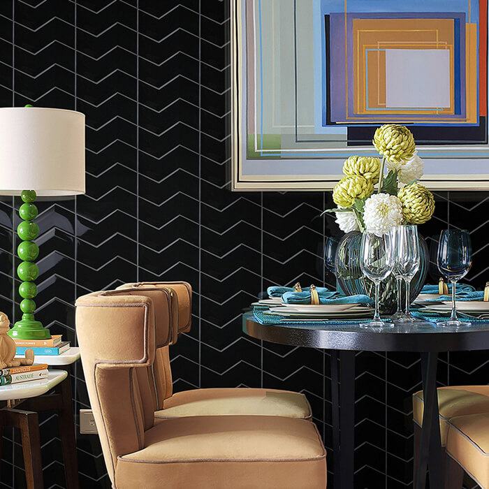 special black tile wall for restuarant.jpg