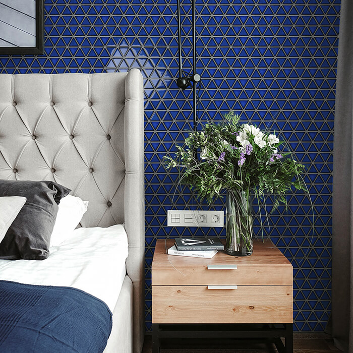 navy blue mosaic tile bedroom wall.jpg
