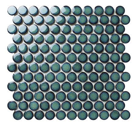 28mm green jumbo penny round mosaic tile CZO938A .jpg