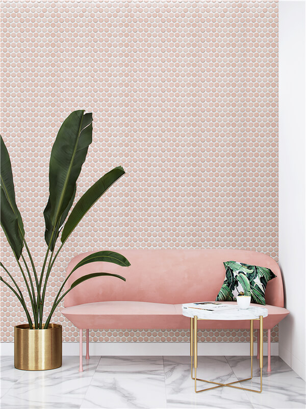 28mm jumbo penny pink mosaic tiles for elegant living room.jpg