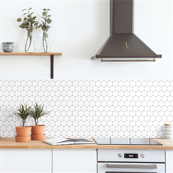 cookies circle ceramic mosaic use as kitchen backsplash