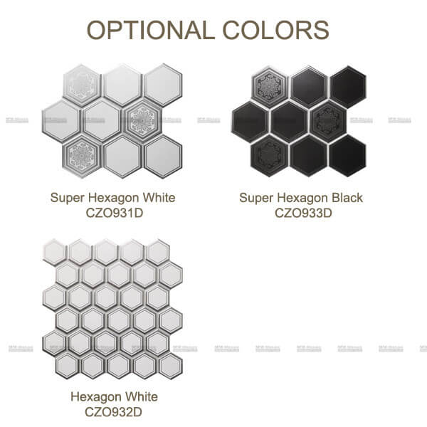 Optional Colors of porcelain mosaic