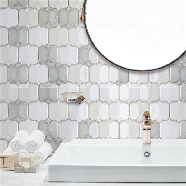 porcelain mosaic used as wall tile