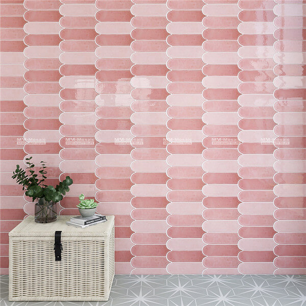 different shades pink wall porcelain tiles