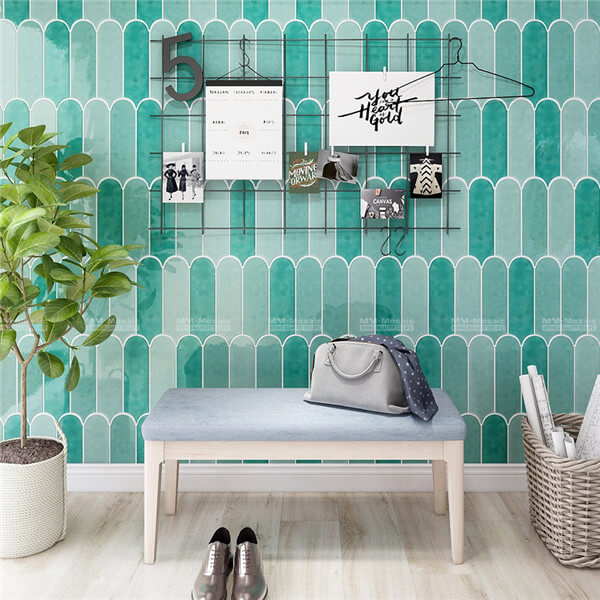 agate green entryway wall tiles