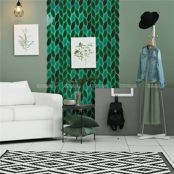 1 ZHC5001 Decor With Green Leaves