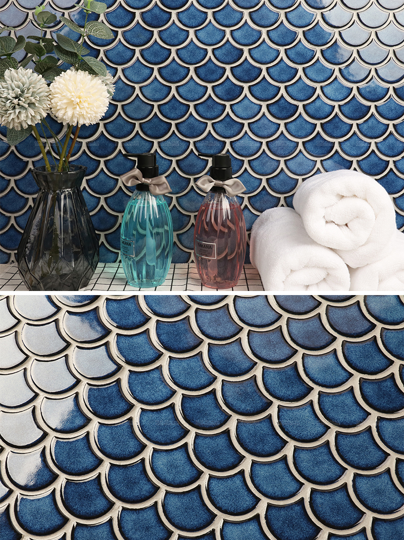 blue fish scale wholesale tiles suppliers