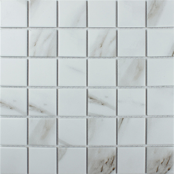 2 Quot Calacatta Porcelain Mosaic Tile That Looks Like Marble