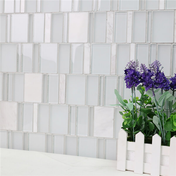 Stylish Piano Keyboard Blend Irregular Shaped Mosaic Tiles