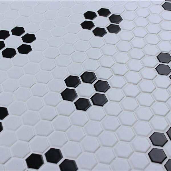 Wholesale 1 Hexagon Porcelain Tile Flower Pattern At