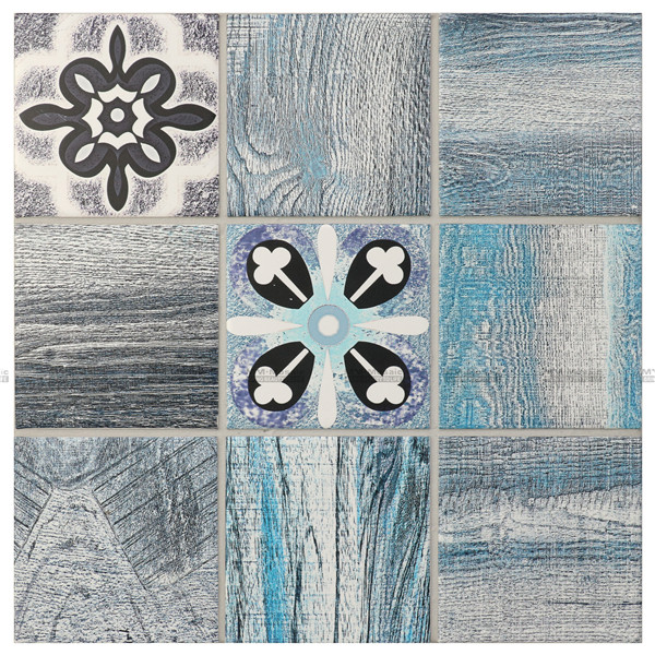 Impression Numerique Cmo002jn Carreaux De Mur Carreaux De Mosaique En Porcelaine En Ceramique Carrelage En Porcelaine Tuile Bleue